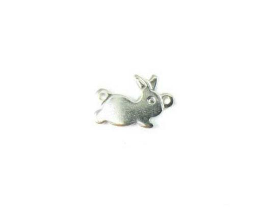 rhodium plated bunny charms