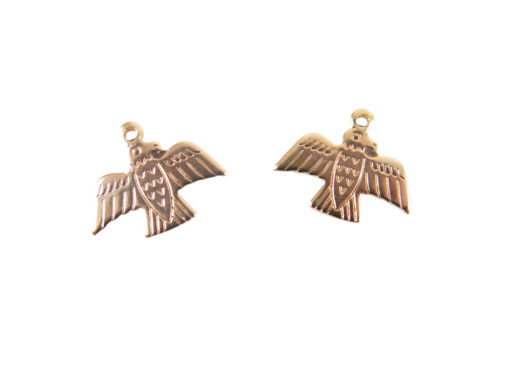 Rose Gold Plated Native American Eagle Charms