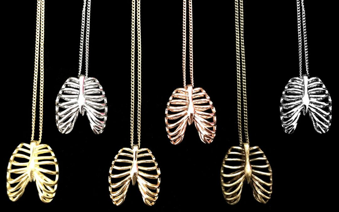 Three Dimensional Rib Cage Necklace – Select Your Finish!