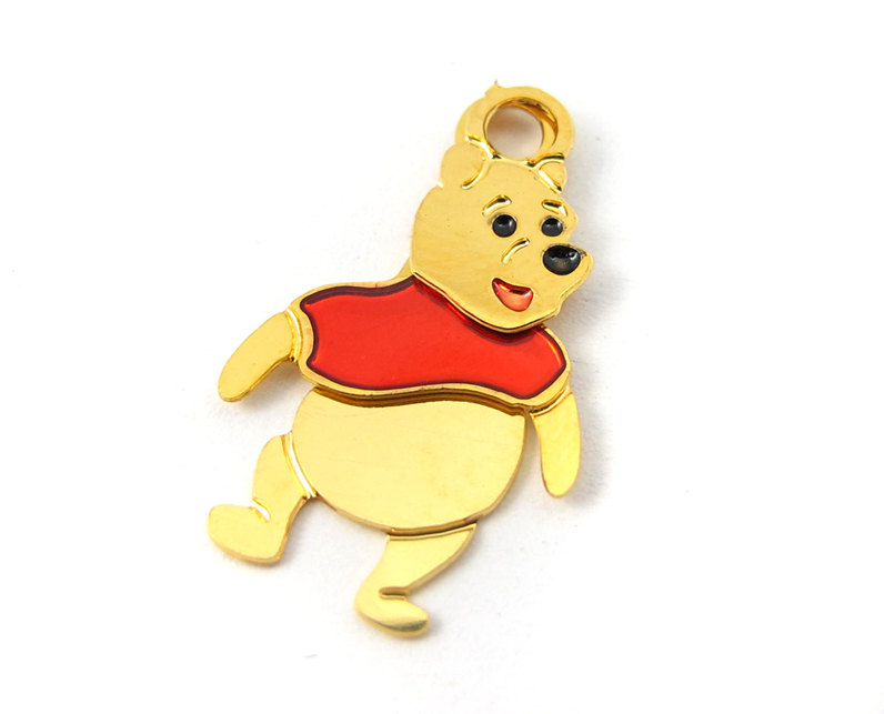 7b6497040 Tiny Winnie The Pooh Plated Disney Character Charms – Left and Right ...