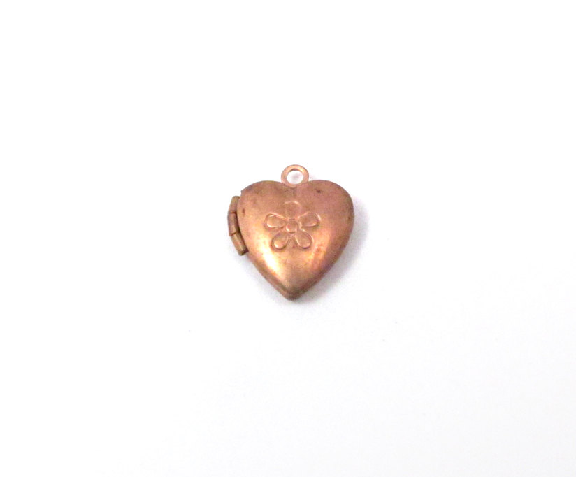 hatched cross product brass huge textured heart lockets vintage