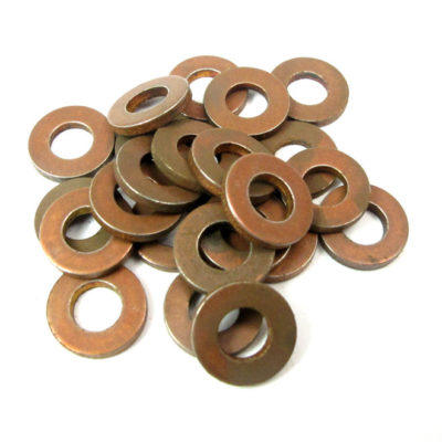 Vintage Copper Plated Steel Circle Findings