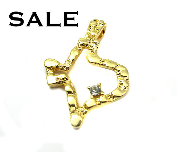 Vintage gold pated texas state pendants with cubic zirconia 2x vintage gold pated texas state pendants aloadofball Gallery
