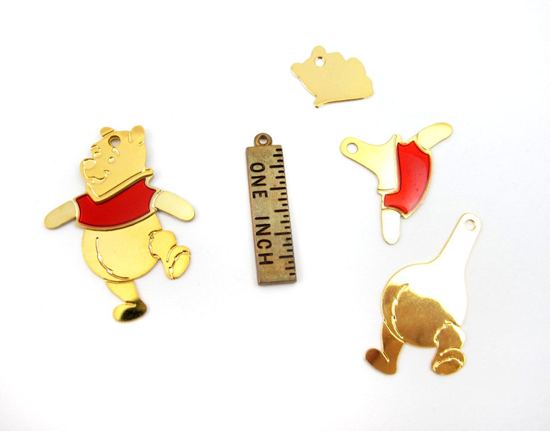 dba98d569 Winnie The Pooh Plated Disney Character Charms - Left and Right (4 ...
