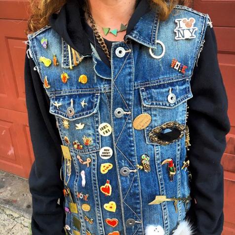 vintage jacket pin
