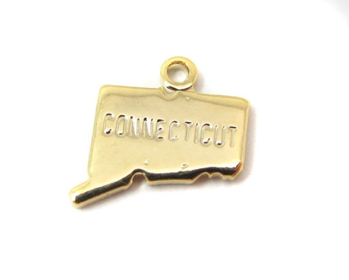 gold plated Connecticut state charms