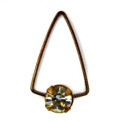 Swarovski triangle wire rhinesone charm