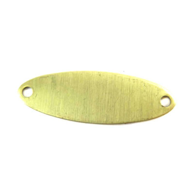 engraving brass oval double hole pendants