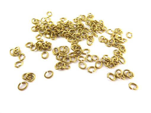 brass 4X3.2 mm jumprings