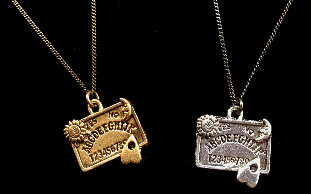 Pewter Ouija Board Pendant Necklace