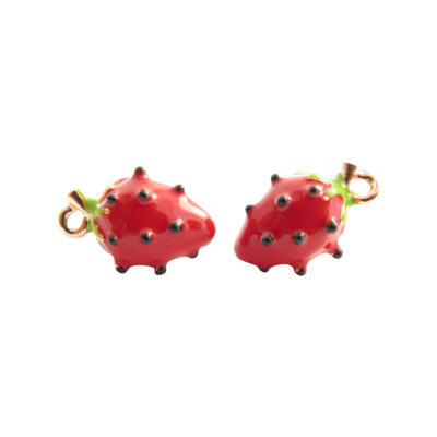 gold plated strawberry charms