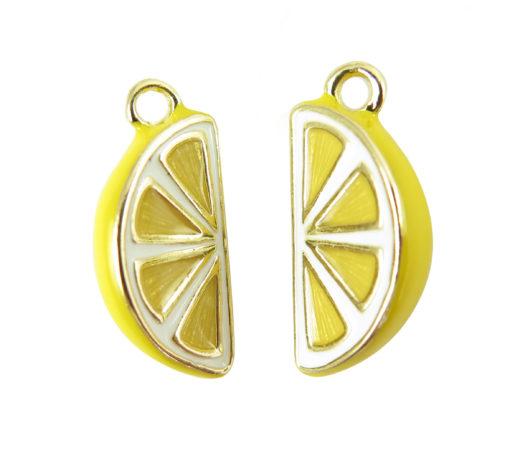 gold plated lemon slice charms