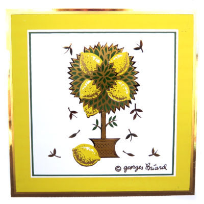 lemon tree vintage tile