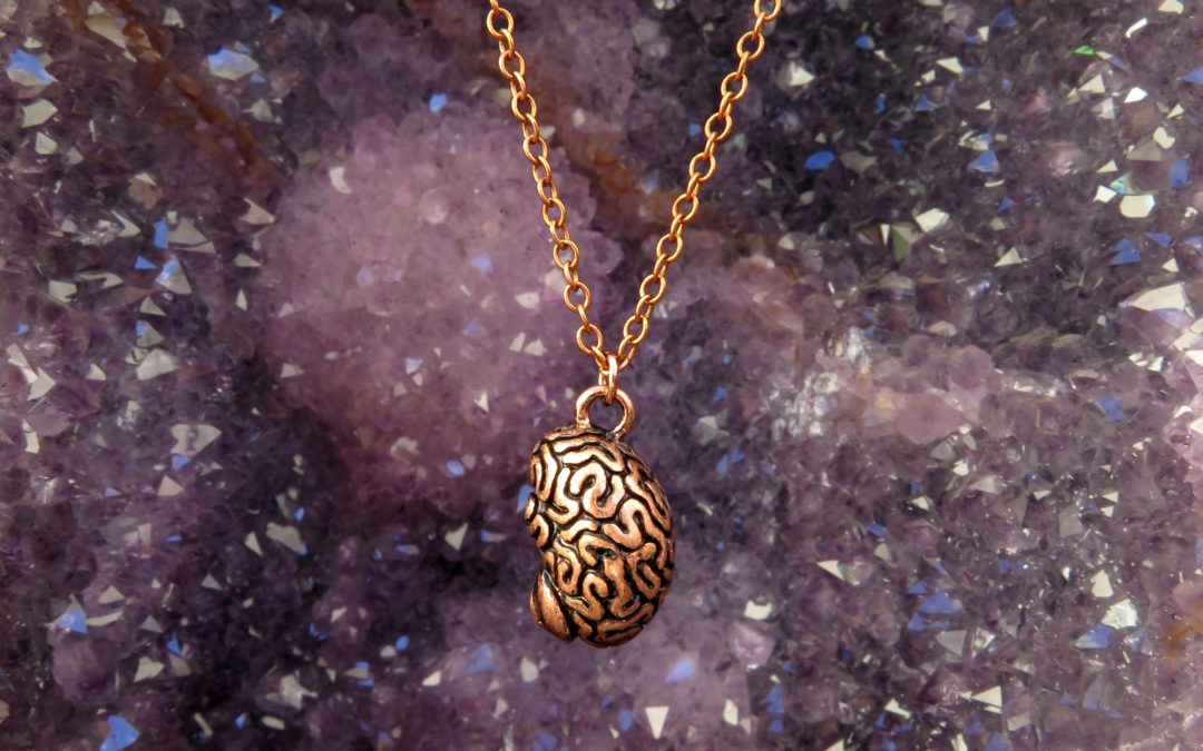 3D Human Brain Necklace