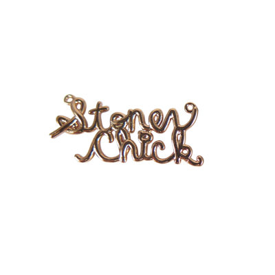 rose gold plated stoner chick nameplate charms