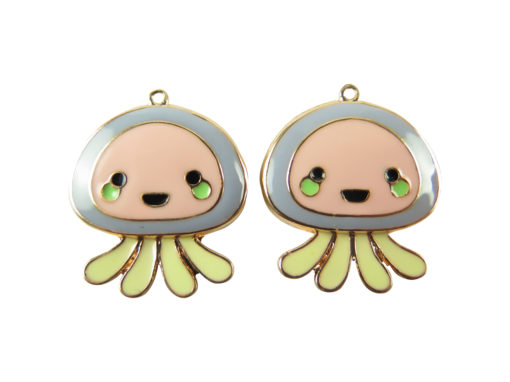 rose gold plated jelly fish charms