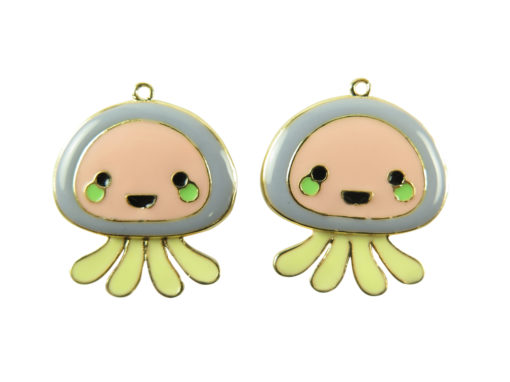 gold plated jelly fish charms
