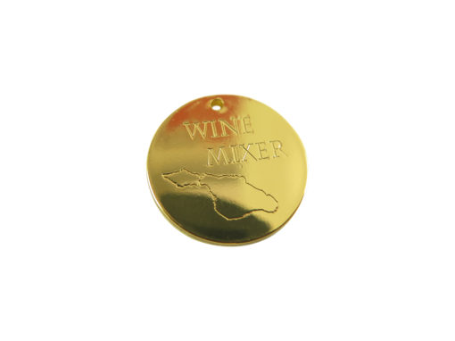 gold plated wine mixer charm