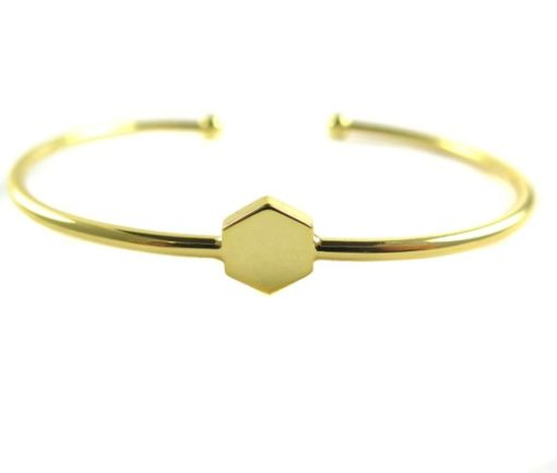 gold plated hexagon cuff