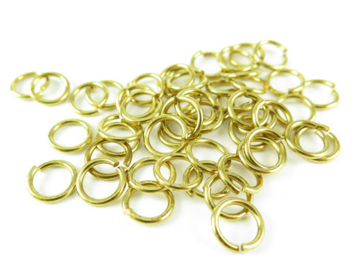 brass 9mm jump rings