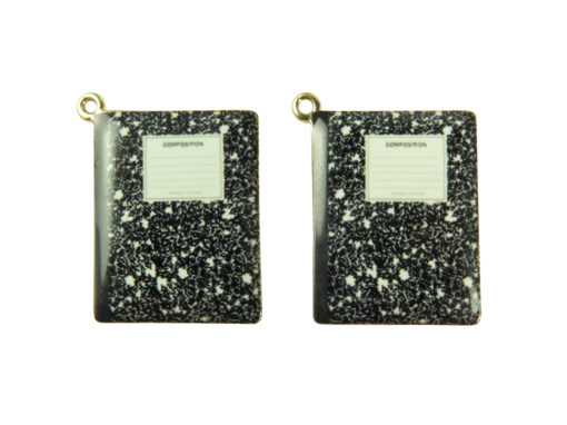 gold plated compostiion notebook pendants