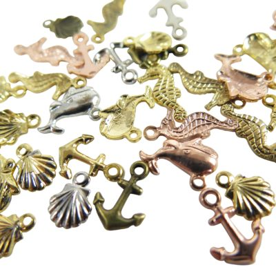 nautical themed charms sea horse sea shell anchor whale
