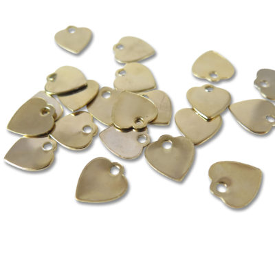 gold plated heart charms for engraving