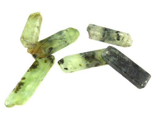 green quartz stick beads