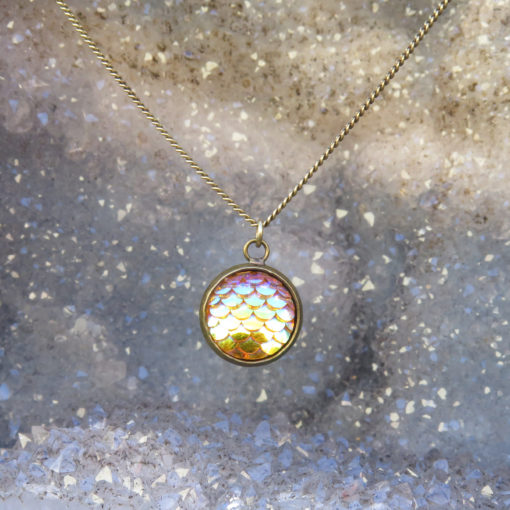 mermaid scale pendant necklace