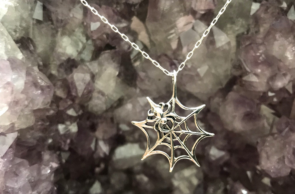 Caught in the Spider's Web – Sterling Silver Necklace