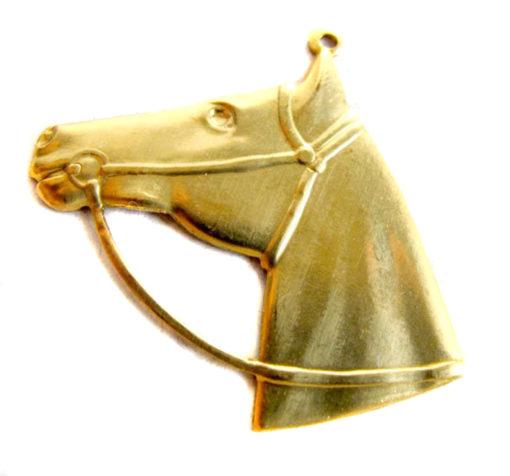brass horse head