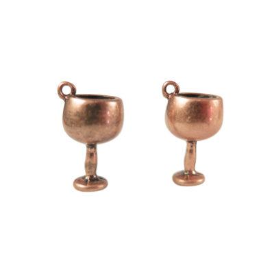 antiqued copper wine glasses