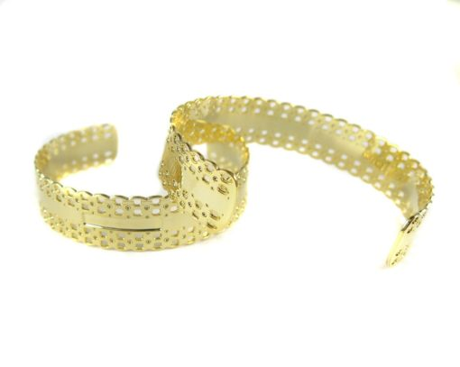 gold plated lace textured cuff