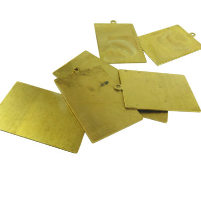 large brass rectangle engraving pendants