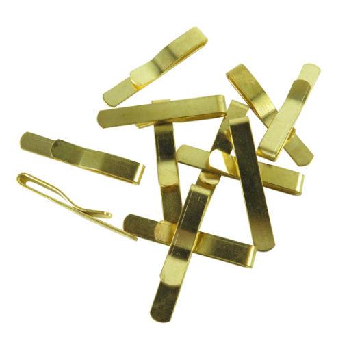 j653 39mm brass engraving tie clip