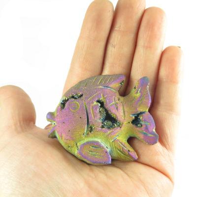 titanium electroplated quartz fish